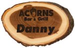 Genuine Wood Log Name Badge 7.Name Badges | Plates