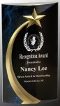 Blue Shooting Star Rounded Acrylic  Achievement Awards