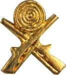 Crossed Rifles Pin Lapel Pins