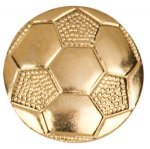 Gold Soccer Metal Chenille Letter Insignia Lapel Pins