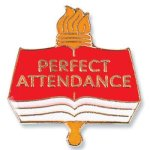 Perfect Attendance Lapel Pin Lapel Pins