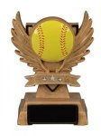 Victory Wing Resin Figure -Softball Multi-Activity Mylar Resin Trophy Awards